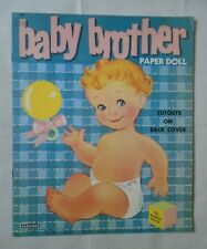 1959 Baby Brother Paper Doll Uncut Vintage Saalfield Very Good used condition!