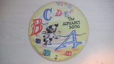 "RARE VOCO Cardboard Picture Record THE ALPHABET SONG 6 3/4"" 78RPM 1949"