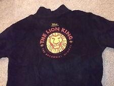 THE LION KING Broadway musical official zip up fleece sweatshirt Adult XL Disney