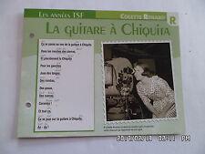 CARTE FICHE PLAISIR DE CHANTER COLETTE RENARD LA GUITARE A CHIQUITA