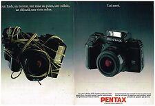 Publicité Advertising 1987 (2 pages) Appareil Photo Reflex Autofocus pentax