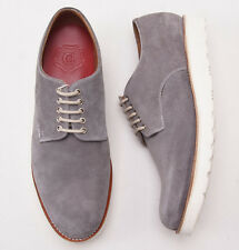 NIB $425 GRENSON 'Finbar' Gray Suede Wedge-Sole Derby 11 Wide (UK 10) Shoes