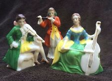 "3 Vintage Colonial or Victorian Musician Figurines - 3.5"" to 4"" - Made in Japan"