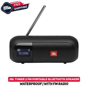 JBL Tuner 2 FM Portable Bluetooth Waterproof Speaker W/ FM Radio IPX7 Black New