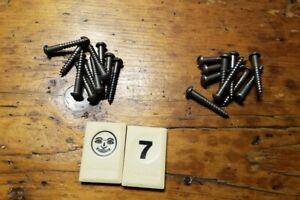 """20  VINTAGE NOS  SLOTTED ROUND HEAD STEEL WOOD SCREWS 1 1/4"""" X #9 - BJ7SH"""