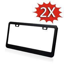 NEW Version Aluminium Alloy LICENSE PLATE FRAME TAG COVER WITH SCREW CAPS Black