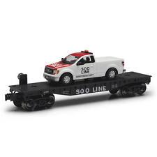 Railroad Train O Gauge Flatcar Soo Line With F150 Maintenance Truck Limited Ed