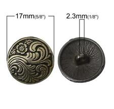 5PCS Metal Round Flower Carving Shank Buttons Coat Sewing Craft DIY New 17MM/26L