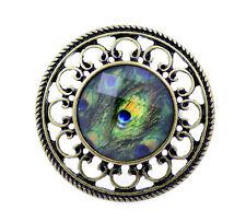 Stile Vintage piume di pavone piuma resina anello, misura UK N