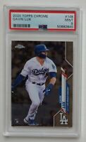 Gavin Lux 2020 Topps Chrome #148 Rookie Card RC PSA 9 MINT Los Angeles Dodgers