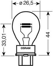 Glühlampe Blinkleuchte Osram 3157 P27/7W W2,5x16q hinten vorne und