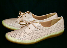 NWOB CLARKS Danelly Millie Wo's 12M Blush Pink Perf Lther Oxfords Comfort Shoe
