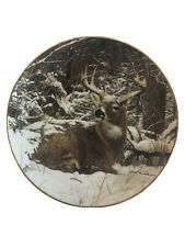 "Danbury Mint 1992 ""Winter Stag"" by Bob Travers Limited Edition Collectors Plate"