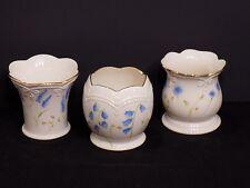 Beautiful Set of 3 Lenox Porcelain Blue Floral Votive Tealight Candle Holders