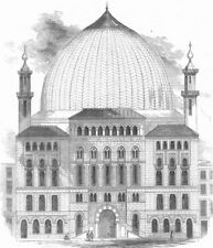 LEICS. The Royal Panopticon, Leicester-Square, antique print, 1852