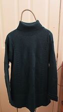 Coldwater Creek Teal Blue Women's S Sm Small Ribbed Long Turtleneck Sweater