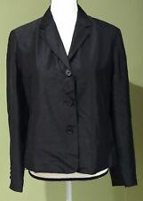 RALPH LAUREN Women's Black Blazer Jacket 100% Silk Size 10 Petite $220 NWT