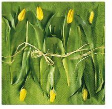 EXCLUSIVE 20 Paper EVENT Lunch Napkins Fresh Tulips Decoupage 33x33cm SDL228300