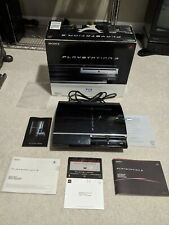 Sony PlayStation 3 Fat 60GB CECHA01 Backwards Compatible PS3 with Box - TESTED