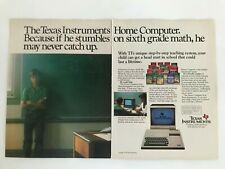Texas Instruments Home Computer Vintage 1983 Print Ad
