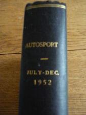 AUTOSPORT MAGAZINE BOUND VOL. 5.  JULY TO DECEMBER 1952