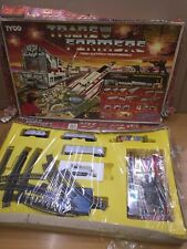 Tyco TRANSFORMERS Electric TRAIN & BATTLE SET Slot Track MIB Vintage