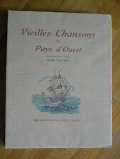 VIEILLES CHANSONS DU PAYS D'OUEST 1939 AQUARELLES LOUIS SUIRE EO N° AVEC  SUITE