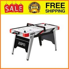 """60"""" Air Hockey Game Table, LED Overhead Electronic Scorer, Quick Assembly, Red/B"""