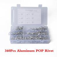 360Pcs Universal Aluminum POP Rivets Half-round Head Rivet For Car SUV Fastener