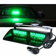 Green 16 LED 18W Strobe Lights Windshield Emergency Flash For Dash Interior