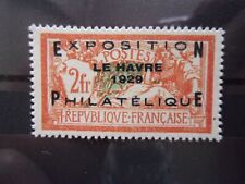 EXPO DU HAVRE N° 257A NEUF GOMME SANS CHARNIERE NI TRACE TRES BON CENTRAGE SIGNE