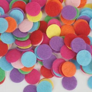 Circle Felt Mixed Colour Round Fabric Pads Accessory Patches Craft 20/25/30mm
