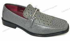 Mens Dress Shoes Fashion Loafers Italian Style Casual Ostrich/Lizard Print Sizes