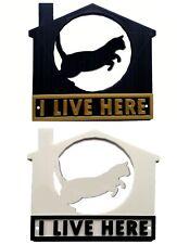 Cat I Live Here 3D Plaque - House Garden Gate Door Sign