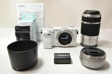 SONY A6000 Mirrorless Digital Camera Double Zoom Lens Kit  White Japan Model EMS