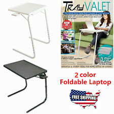 Foldable Laptop Coffee Tea Table With Cup Tray  Adjustable Height Table