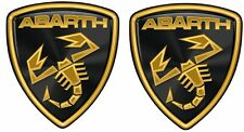 Fiat 500 / 595 / 695 Abarth Lambo style  wing Decals / Stickers 60mm tall