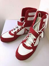 Reebok Men's Boot Boxing Shoe 11.5 White/Excellent Red