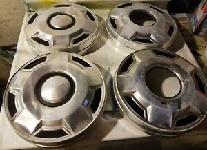 (4) 1980's 90's Ford F150 Truck Bronco 4x4 dog dish hubcap 4 Manual Locking Hubs
