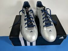 MENS ADIDAS ADIZERO 5-STAR 2.0 FOOTBALL CLEATS 13.5 Platinum with Navy Blue