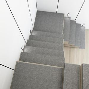 1X Self-Adhesive Stair Tread Non slip Carpet Indoor Rug Staircase Mat Home Decor