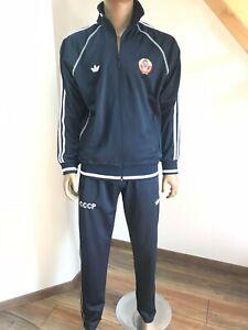 ADIDAS Anzug Rar Rarität Sport Suit Russia CCCP USSR 80-er, 90-er Dunkelblau#2