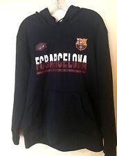FC Barcelona Soccer Hoodie Jacket-Adult Medium-Navy Blue
