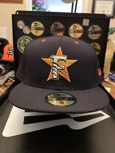 "Fresno Grizzlies New Era 59FIFTY ""Slashed F Star Logo"" Navy Hat Size 8 USA Made"