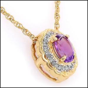 Stunning Amethyst and Diamond Pendant.