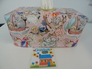 Tissue Box Cover May Gibbs Classic Pink With Circle Opening - Gorgeous!