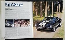 1967 Shelby GT 350 Cobra Mustang - 6 Page Article - Free Shipping