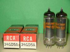 2 NIB RCA 34GD5A Vacuum Tubes