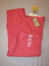 mens haggar life khaki pants 30x32 nwt $65 berry red relaxed
