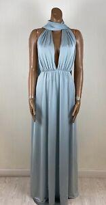 DEBUT Icy Blue Multiway Drape Long Maxi Dress 8